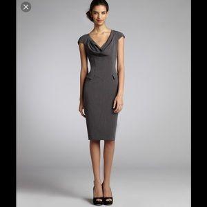 EXC SINGLE Cowl Neck Sheath Career Dress 8